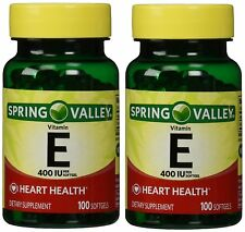 Spring Valley Vitamin E 400 IU, 100 Softgels Pack of 2