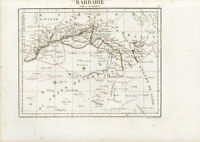 1802 Tardieu Antique Map of North Africa, Barbary Coast - Morocco to Lybia