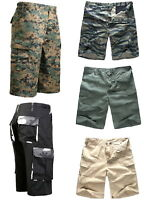 Mens Army Military Combat Cargo Shorts Outdoor Camping Fashion Walk Long Shorts