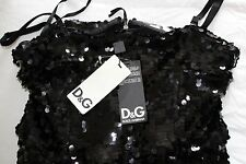 100% GENUINE BNWT'S DOLCE & GABBANA SUPERB SEQUINED BLACK PARTY DRESS UK 10