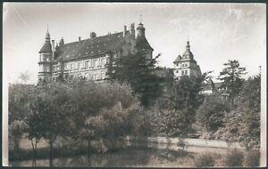 Postkarte Güstrow Schloß, s/w, Druckvorlage für Druckerei, 1958 RARITÄT
