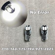 PARKING LIGHT No Canbus Error T10 W5W 168 175 194 2825 SMD LED WHITE bulb W1 J