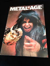 METAL AGE HM PHOTO BOOK W.A.S.P. WASP IRON MAIDEN AC/DC KISS RUSH DEF LEPPARD