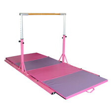 Adjustable Horizontal Bar -Gymnastics13 Height Options Folding Mat Pink&Purple