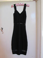 Long Black H&M Bodycon Dress with Cutout Sections in Size XS / 4 - 6 - NWOT