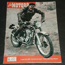 Das Motorrad 15/59 Honda aus Japan, 3-Tage-Fahrt 1959, BMW-Historie, Seitenwagen