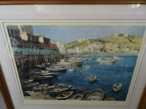 Edward Seago Signed Print The Port Of Ponza