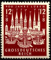 III REICH, 800th. ANNIV.  CITY OF LÜBECK. MICHEL # 862, YEAR 1943, MNH, LOT 3188