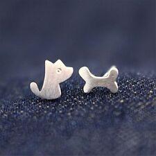 Girl Hot Sale Dog Bone Pattern Ear Stud Stud Earring Gift Fashion Jewelry
