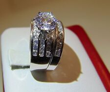 3.50 ct Engagement and Wedding Ring 2pc set14K Yellow Gold Diamond all sizes
