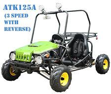 NEW Youth Go Kart 125cc Mini Jeep Kid Buggy 3-Speed + Reverse FREE SHIP +HELMET!