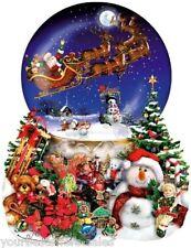 Jigsaw Puzzle 1000 Pieces, Santa Snow Globe, Santa Puzzle, Christmas Puzzels