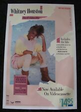 Whitney Houston #1 Video Hits poster original video store promo 1986