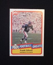 FRANK GIFFORD SWELL PRO FOOTBALL HALL OF FAME FOOTBALL GREATS CARD #77-VINTAGE