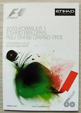 ABU DHABI GRAND PRIX 2010 FORMULA ONE F1 YAS MARINA Official Race Programme