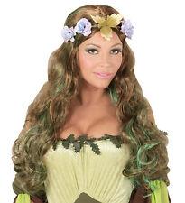 Elfe de la forêt Perruque avec couronne à fleurs NEUF - Carnaval cheveux