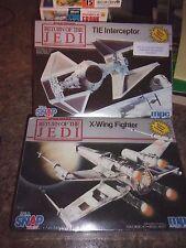 Star Wars X-Wing, Tie Interceptor Model Kit Lot MPC ERTL -  LOTLUD