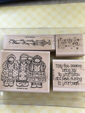 STAMPIN UP! Song in Your Heart Rubber Stamp Set - 4 Pc Christmas Holiday