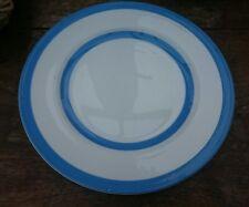 "T G GREEN DINNER PLATE 10"" CORNISH WARE BLUE AND WHITE STRIPE"