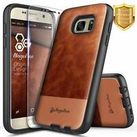 For Samsung Galaxy Note 5 Case Shockproof Leather Phone Cover + Tempered Glass