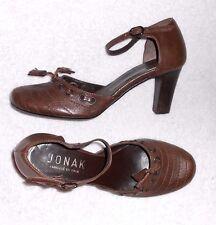JONAK escarpins  cuir marron  P 36 = 37 TBE