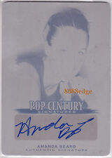 2012 POP CENTURY PRINT PLATE AUTO:AMANDA BEARD #1/1 OF ONE AUTOGRAPH OLYMPIC USA