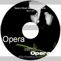 Massive Professional Opera Sheet Music Collection Archive Library on 2 DVD's