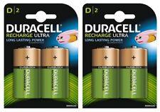 4 X Duracell D Tamaño 3000 mAh Pilas Recargables NiMH LR20 HR20 DC1300