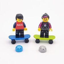 1x skatborder-Blue Lego figures accessories