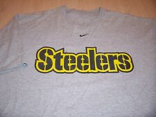 NIKE PITTSBURGH STEELERS SHORT SLEEVE GRAY T-SHIRT MENS XL EXCELLENT CONDITION
