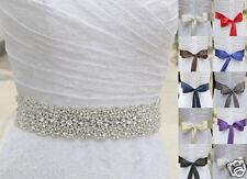 Ivory Belt Pearl Crystal waist Belt with Beaded Rhinestones Bridal sash 102#