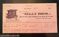 Kelly Bros. Sanitary Plumbers and Gas Fitters Vignette Letterhead Invoice 1897