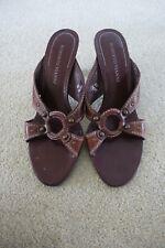 Roberto Vianni  ladies brown leather mules (UK 6)