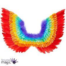 Arcoiris Multicolor Pluma Hada Alas de ángel ORGULLO GAY Disfraz