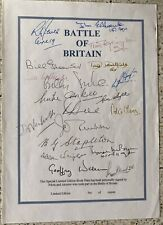 More details for battle of britain signed bookplate
