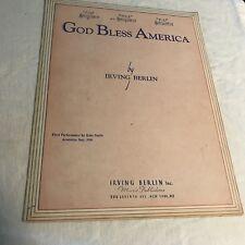 Sheet004 Sheet Music Piano God Bless America by Irving Berlin1939