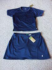 PRINCE Tennis 2 Piece Outfit Skort & Top Gray Spandex Women's XXL New