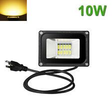 10W LED Flood Light Outdoor Garden Spot Lamp Spotlight US Plug Warm White 110V