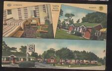Postcard TAMPA Florida/FL  Auto Haven Motel Motor Court Tri-view 1930's
