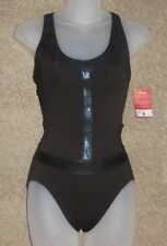Capezio Black Drop Waist Leotard Leo 10254 Size SA Small Adult