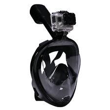 L/XL Swimming Full Face Anti-Fog Mask Surface Diving Snorkel Scuba forGoProBlack