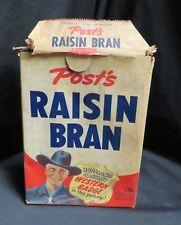 Vintage Post Raisin Bran Cereal Box, Hop-A-Long Cassidy, 10 oz