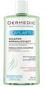 DERMEDIC CAPILARTE Normalising shampoo for greasy hair 300ml Regulates & Soothes