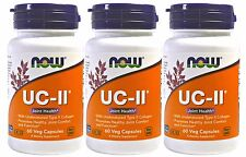 3 x NOW FOODS UC-II Type II Collagen Joint Health 60 VCaps FRESH MADE IN USA
