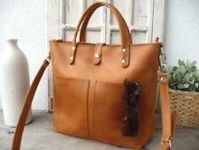 HANDBAG, Small leather tote bag, leather tote with optional zipper, interior zip