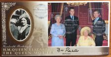 Benham 4.8.2000 Queen Mother M/S FDC signed BILL PERTWEE Dads Army Warden Hodges