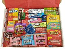 American Candy Sweets Gift Box Hamper - Jolly Rancher Nerds Warheads
