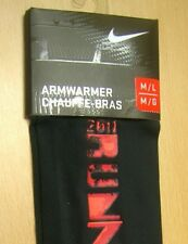 Nike sz M/L Running Armwarmer New 2011 Run Nyc Fc0181 079 Black New Old Stock