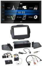 JVC 2DIN Bluetooth MP3 Lenkrad USB Autoradio für Jeep Renegade ab 2015