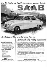 SAAB 96 2 STROKE RETRO A3 POSTER PRINT FROM CLASSIC 60'S ADVERT